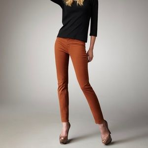 J Brand Skinny Leg Denim Jeans Terra Cotta Brown